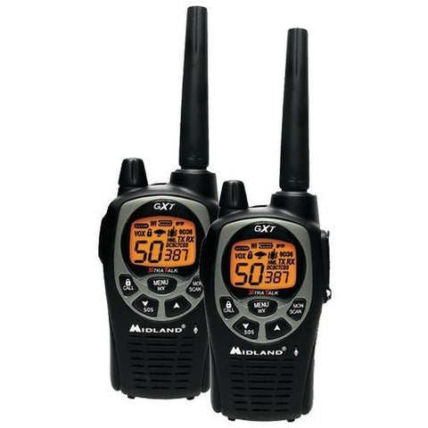 Midland 36-mile Gmrs Radio Pair Pack With Drop-in Charger & Rechargeable Batteries (pack of 1 Ea) - Scroll Forever, 2-Way radios, MIDLAND