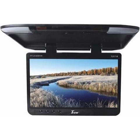 "Tview 25"" TFT Flipdown Monitor Built in IR Remote Light Black - Scroll Forever, 12Volt Mobile Video, Tview"