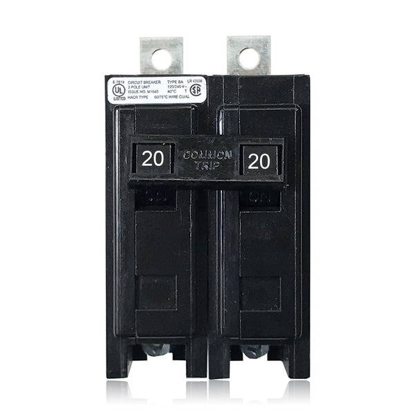 BAB2020 2 Pole 20 Amp Type BA Bolt-in Cutler-Hammer Circuit Breaker