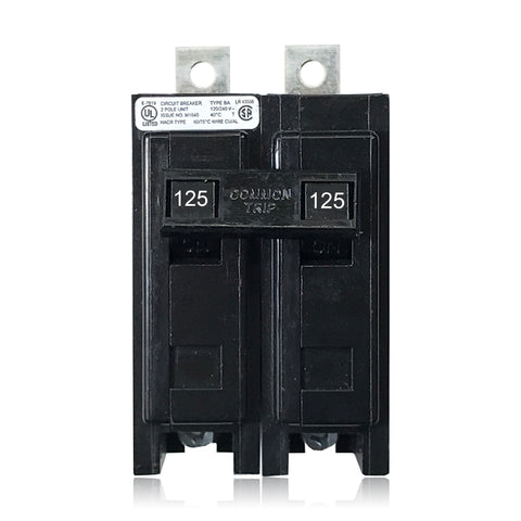BAB2125 2 Pole 125 Amp Type BA Bolt-in Cutler-Hammer Circuit Breaker