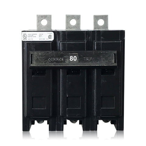 BAB3080H 3 Pole 80 Amp Type BA Bolt-in Cutler-Hammer Circuit Breaker