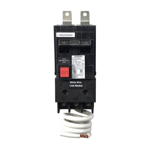 BE215 2 Pole 15 Amp Siemens Equipment Protection Bolt-In Circuit Breaker
