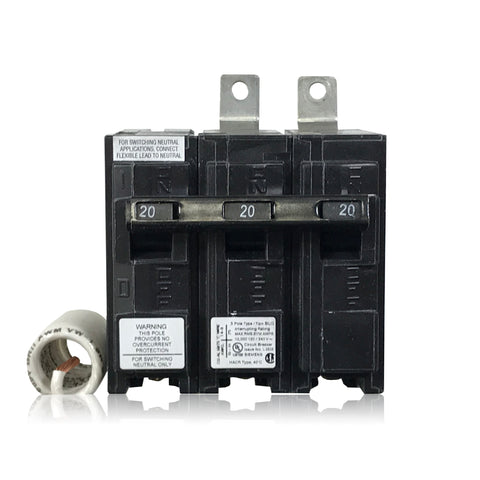 BG320 2 Pole 20 Amp 3W Siemens Switching Neutral Bolt-In Circuit Breaker