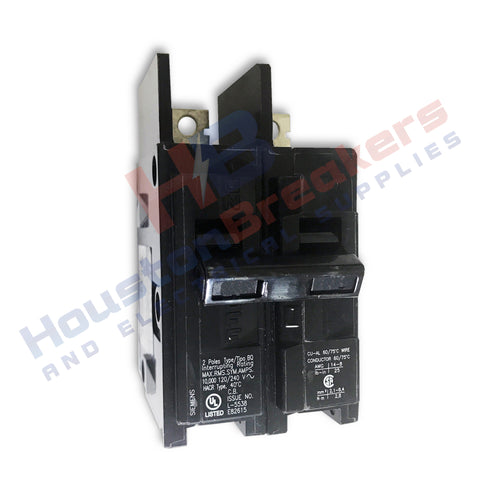 BQ2B090 90 Amp Double Pole Siemens Type BQ Bolt-in Circuit Breaker