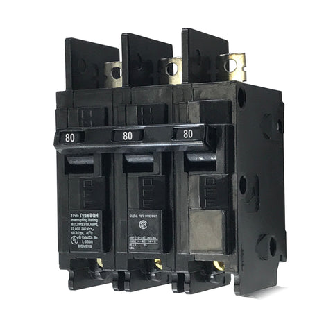 BQ3B080H 3 Pole 80 Amp 22k Rated Siemens Bolt-in Circuit Breaker
