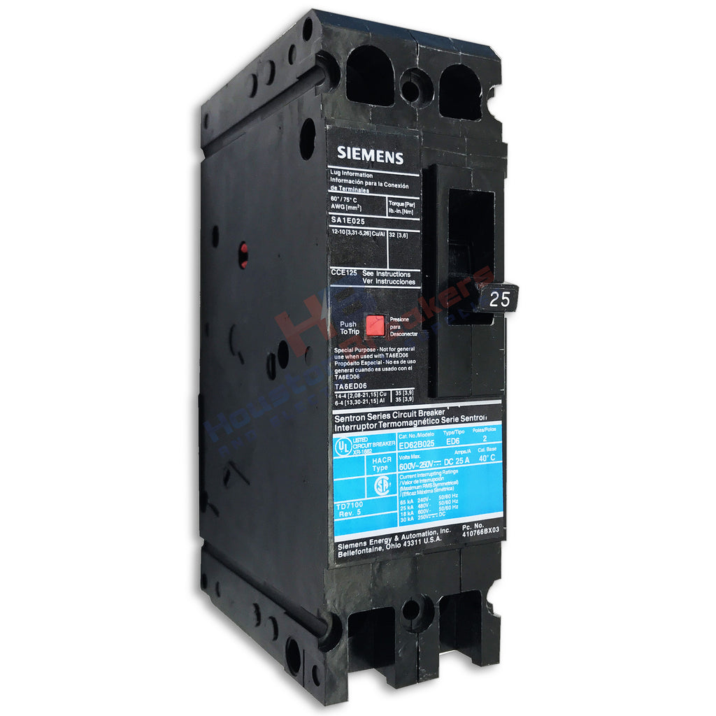 Siemens Ed62b070 2 Pole Circuit Breaker Houston Breakers And Amps In A Series Electrical Supplies