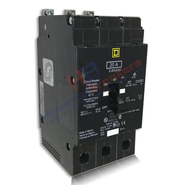 Square D EJB34040 3 Pole Circuit Breaker