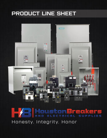 HOUSTON BREAKERS PRODUCT LINE SHEET