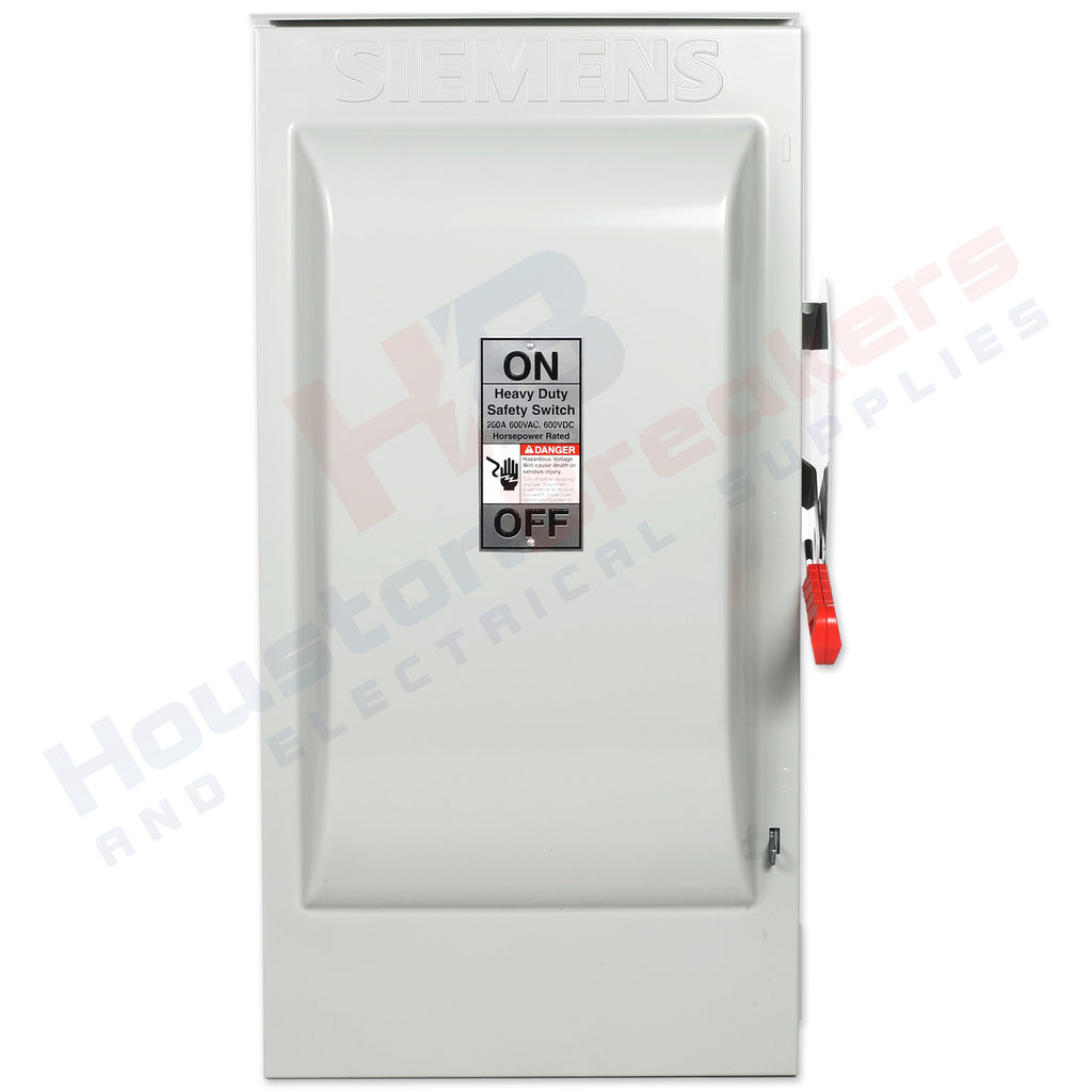 Siemens Hnf364r 200a 600v Non Fuse Disconnect Houston Breakers And