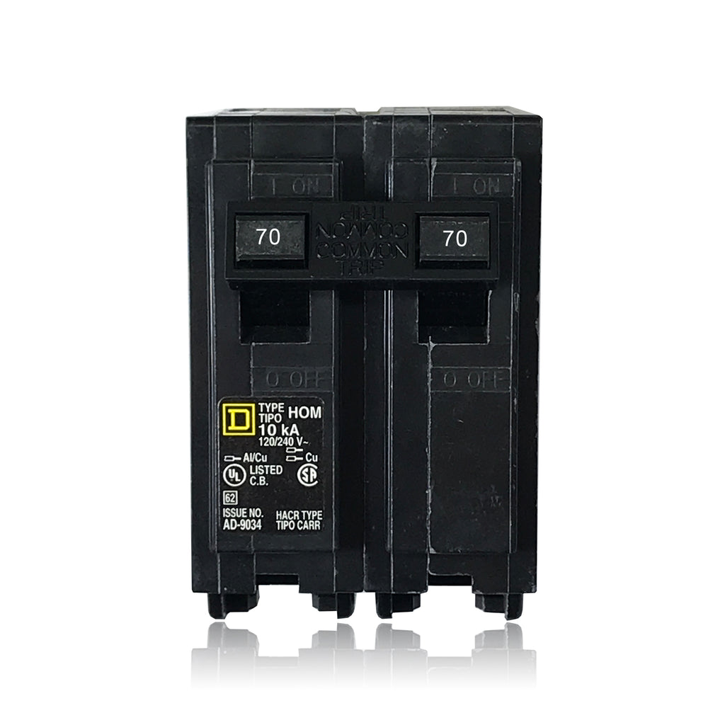 50 Amp Wire Size >> HOM270 2 Pole 70 Amp Type HOM Square D Plug-in Circuit ...