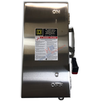 Square D H363DS Stainless Steel 100A 600V Disconnect