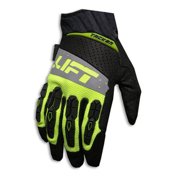 LIFT Pro Series Gloves - TACKER - Genuine Leather - HI-VIZ