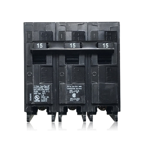 Q315 3 Pole 15 Amp Type QP Siemens Plug-in Circuit Breaker