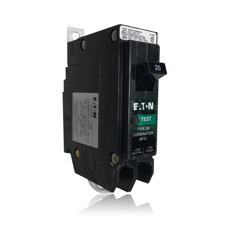 QB1020CAF 1 Pole 20 Amp Combination Arc Fault Circuit Breaker Cutler-Hammer