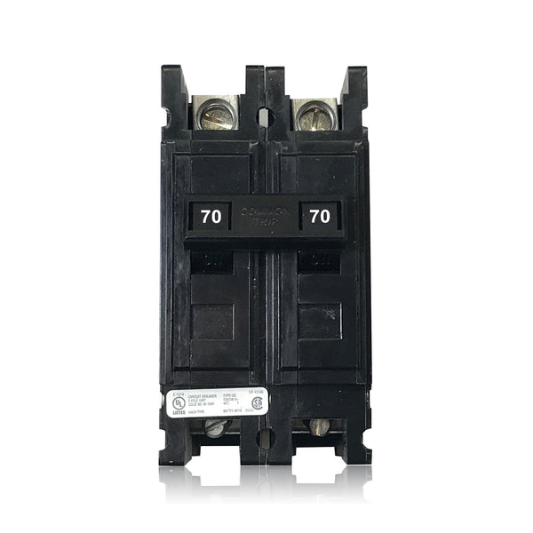 QC2070 2 Pole 70 Amp Type QC Quicklag Cutler-Hammer Circuit Breaker