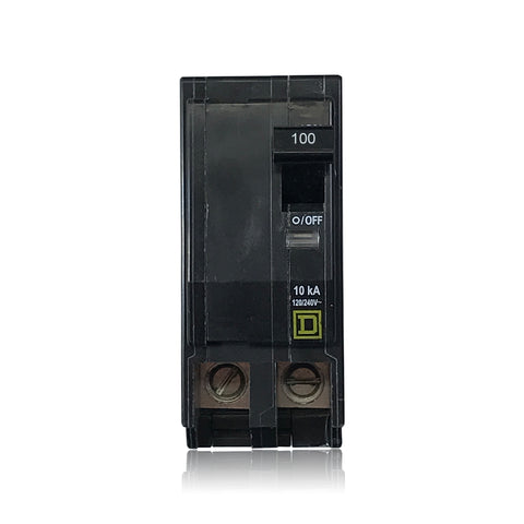 QO2100 2 Pole 100 Amp Type QO Square D Plug-in Circuit Breaker