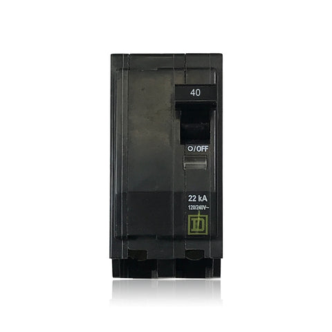 QO240VH 22k Rated 2 Pole 40 Amp Square D Plug-in Circuit Breaker