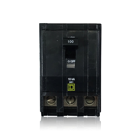 QO3100 3 Pole 100 Amp Type QO Square D Plug-in Circuit Breaker