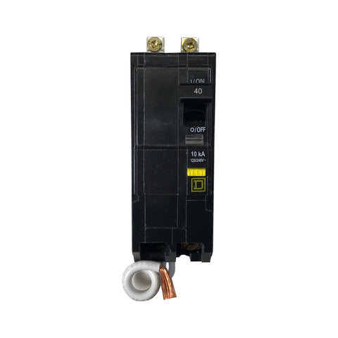 QOB240GFI 2 Pole 40 Amp GFCI Square D Bolt-in Circuit Breaker