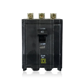 QOB340VH 22k Rated 3 Pole 40 Amp Square D Bolt-in Circuit Breaker