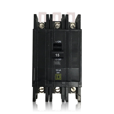 QOU315 3 Pole 15 Amp Square D Circuit Breaker
