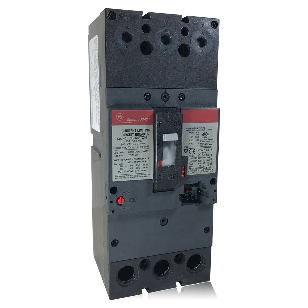 Sfpa36at0250 250 Amp Spectra Rms Current Limiting Circuit Breaker Ge 200 Federal Pacific Fuse Box G Houston Breakers And Electrical Supplies