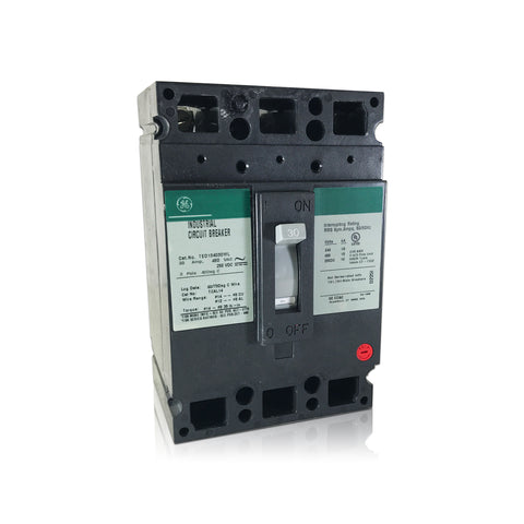 TED134030 3 Pole 30 Amp Industrial Circuit Breaker Type TED GE General Electric