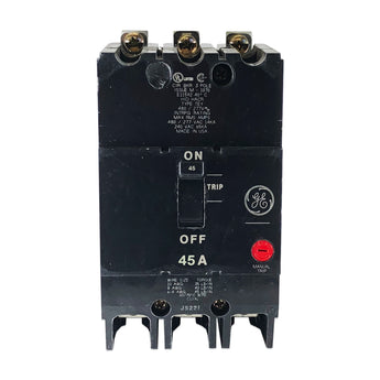 TEY345 45 Amp Three 3 Pole Type TEY GE General Electric Circuit Breaker