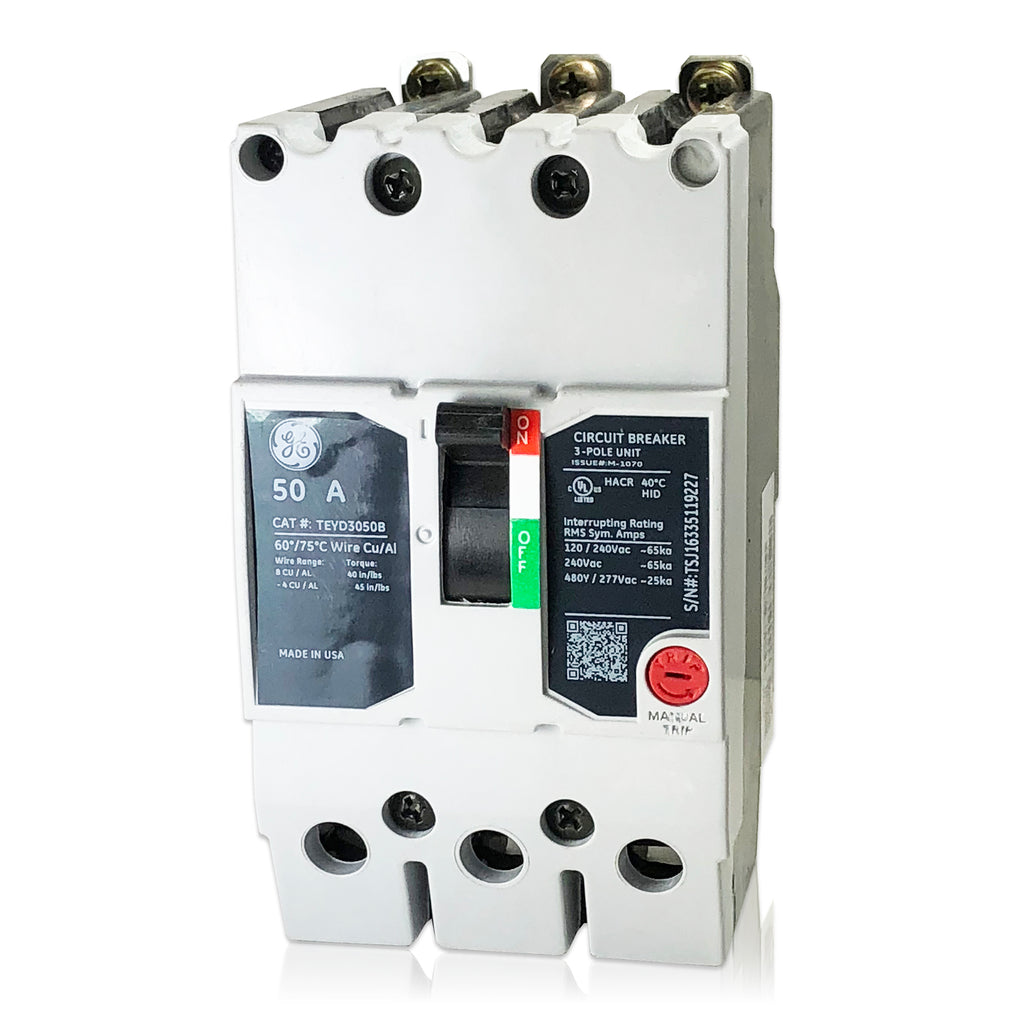 teyd3050b 50 amp three pole type teyd ge general electric circuit brea –  houston breakers and electrical supplies