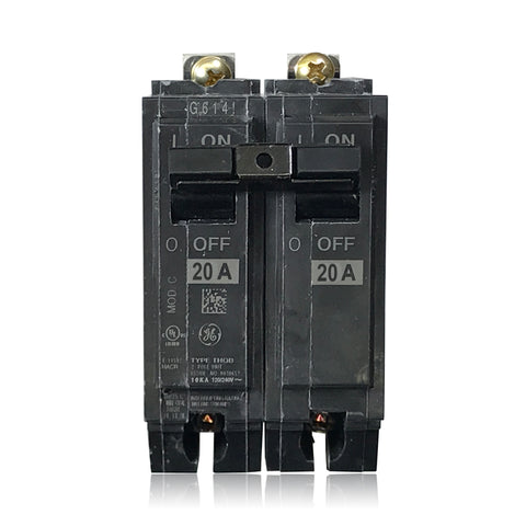 THQB2120 2 Pole 20 Amp Type THQB Bolt-In GE General Electric Circuit Breaker