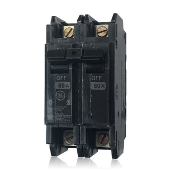 THQC2180WL 2 Pole 80 Amp Feed Thru GE Breaker