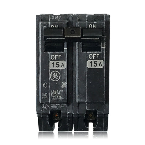 THQL2115 2 Pole 15 Amp Type THQL Plug-in GE General Electric Circuit Breaker