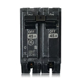 THQL2145 2 Pole 45 Amp Type THQL Plug-in GE General Electric Circuit Breaker