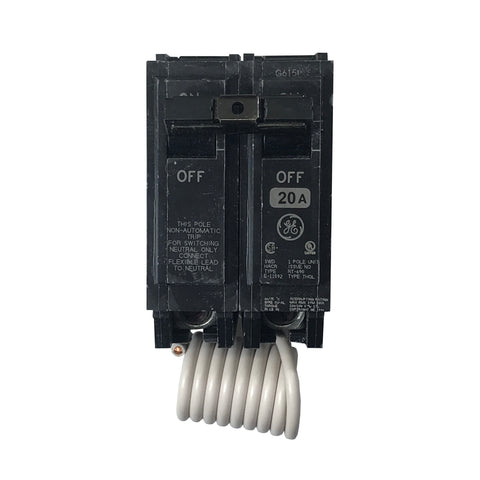 THQL21WY20 1 Pole 20 Amp + Switching Neutral General Electric ...