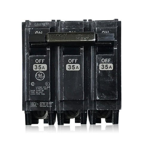 THQL32035 3 Pole 35 Amp Type THQL PLug-in GE General Electric Circuit Breaker