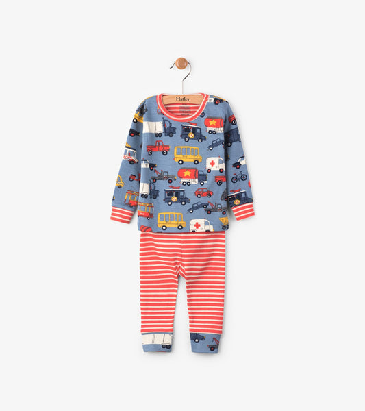 c8a136842 Hatley Rush Hour Long Sleeve Mini Pyjama Set