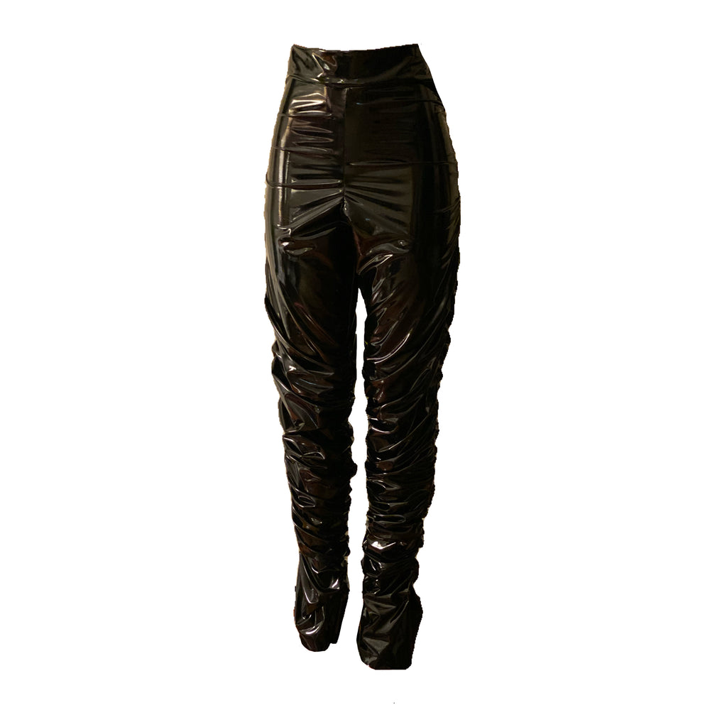 CHANEL PU Leather Pant