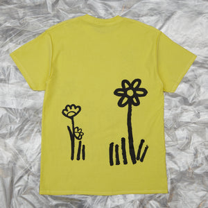 Dear John Tee Lemon with Flowers by artist John Booth for BLOUSE by Geoffrey J Finch. Image 2.
