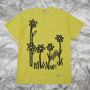 Dear John Tee Lemon with Flowers by artist John Booth for BLOUSE by Geoffrey J Finch. Image 3.