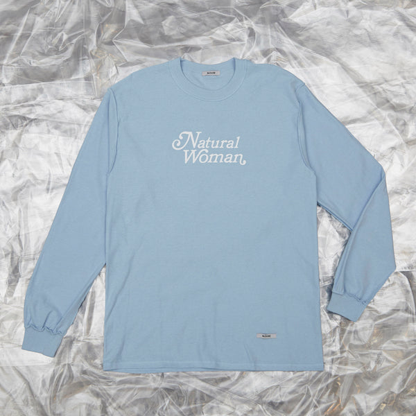 'Natural Woman'  - long sleeve tee, white