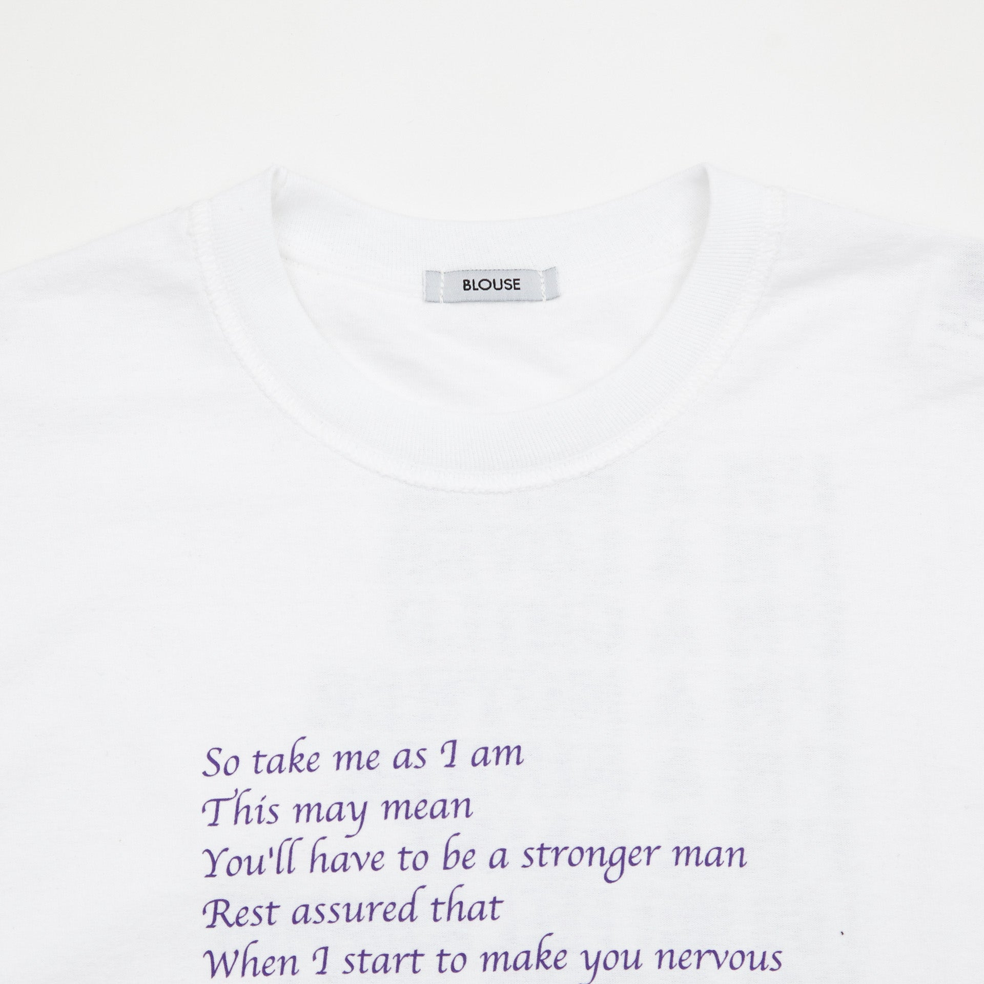 BLOUSE Bitch Long Sleeve Tee 'So take me as I am...' Front Print