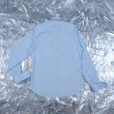 'Barry' - shirt, sky blue with blanket stitch