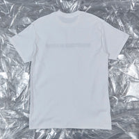 'WHAT TIME IS LOVE?' - Elwick short sleeve tee, white