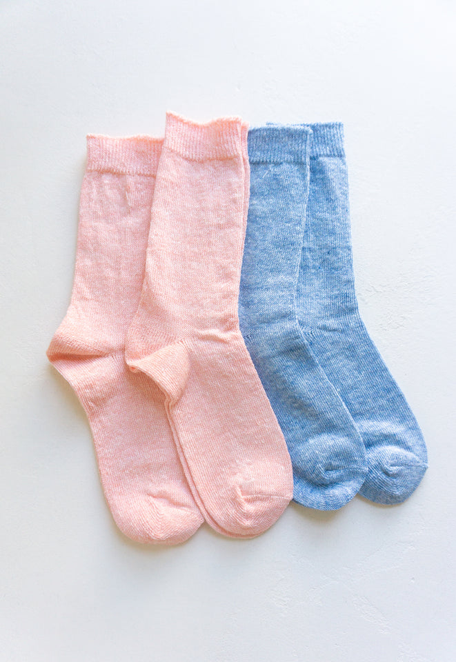 Bright Linen Socks