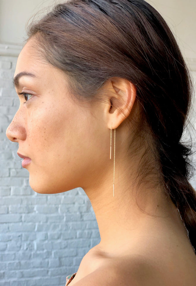 Gold Stitch Earring