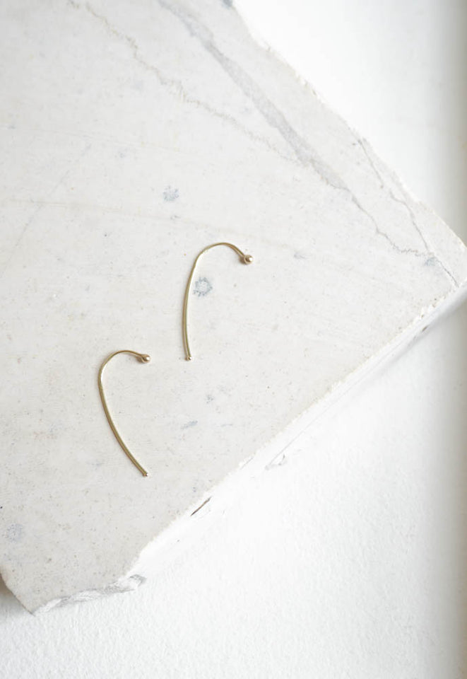 KATHLEEN WHITAKER HOOK EARRING