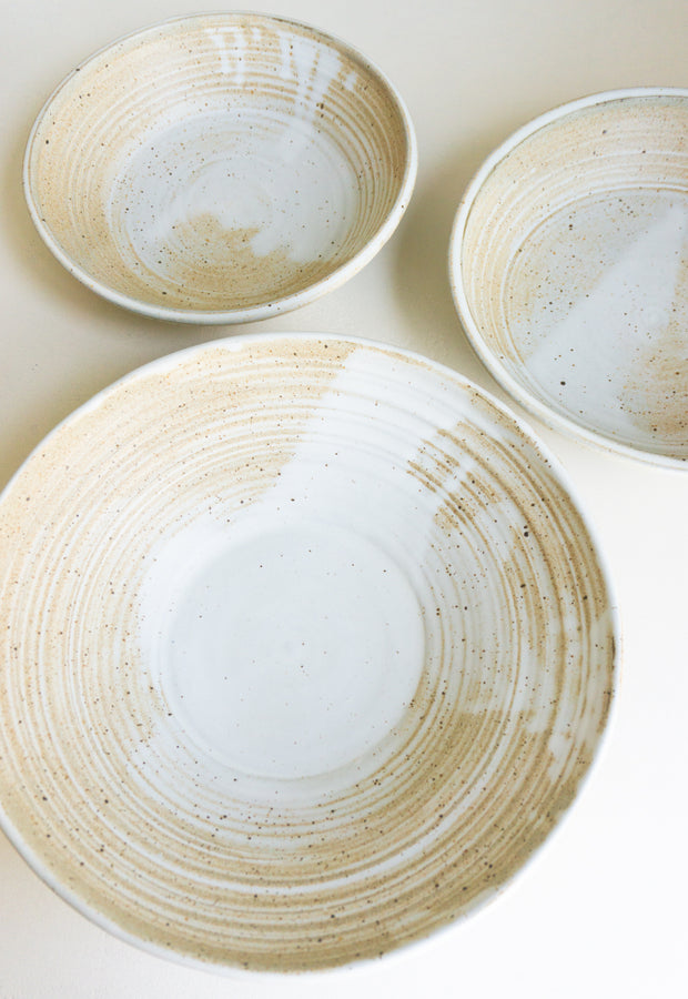Ceramic Serving Bowl in Warm Speckle