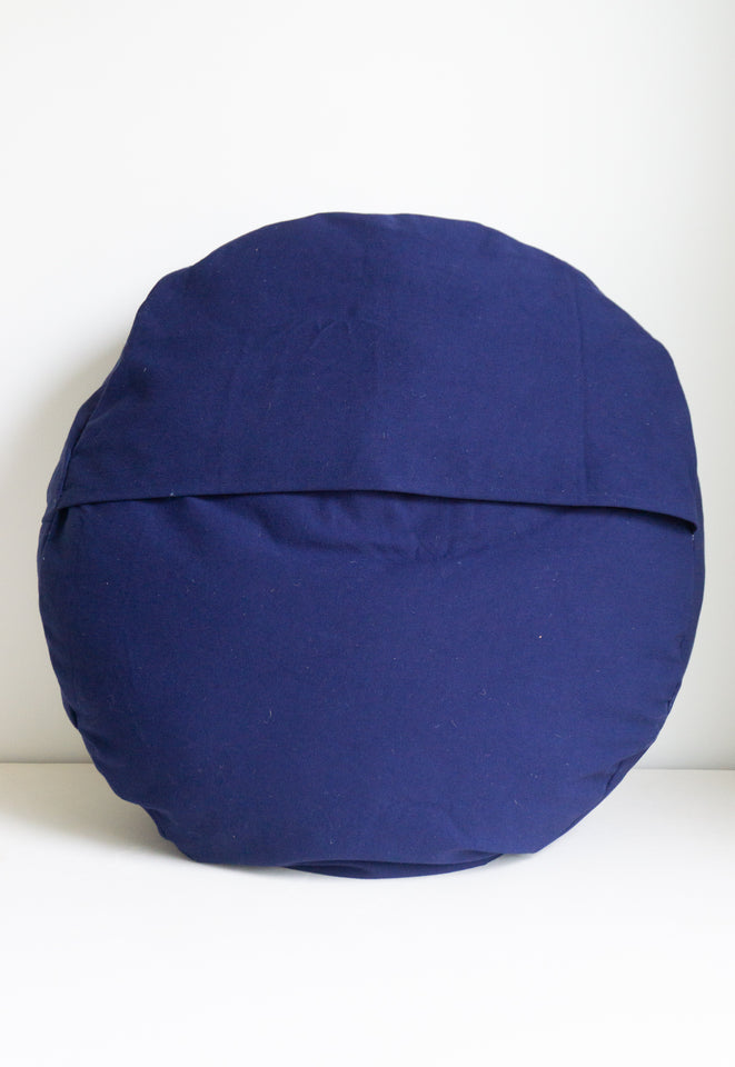 Patchwork Pouf in Indigo