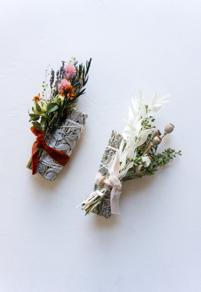Sage Bundle with Flowers