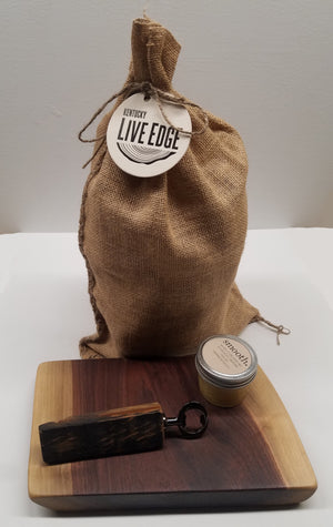 Superfecta Gift Set- Bourbon Barrel Smoker Chunks- Bottle Opener- Charcuterie Board- Wood Conditioner- Gift for Him- Wedding Gift- Kentucky